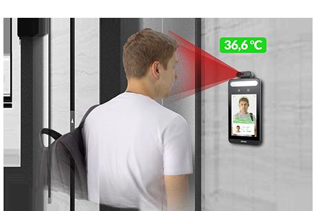 Profesjonalny terminal do zdalnego pomiaru temperatury ciała zfunkcją wykrywania maseczki KDH-KZ6000FR-IP