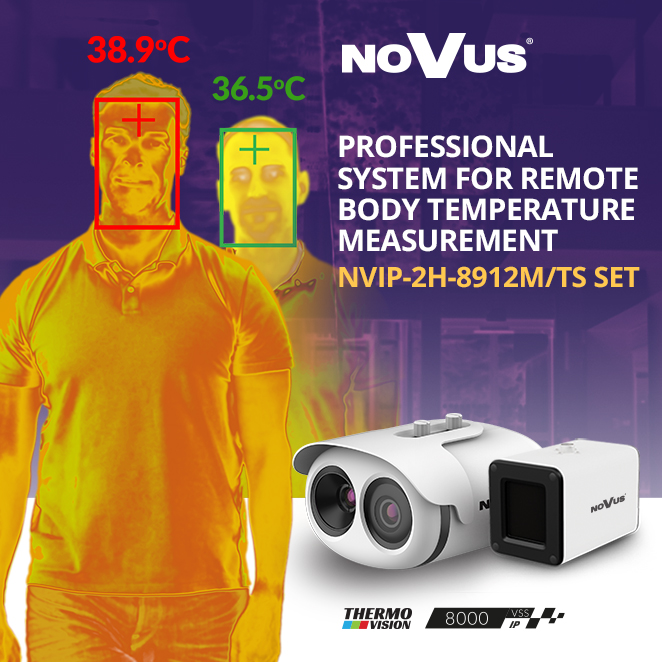 Kamera termowizyjna do zdalnego pomiaru temperatury ciała - zestaw