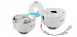 Camera with integrated wall/ceiling adapter (junction box)